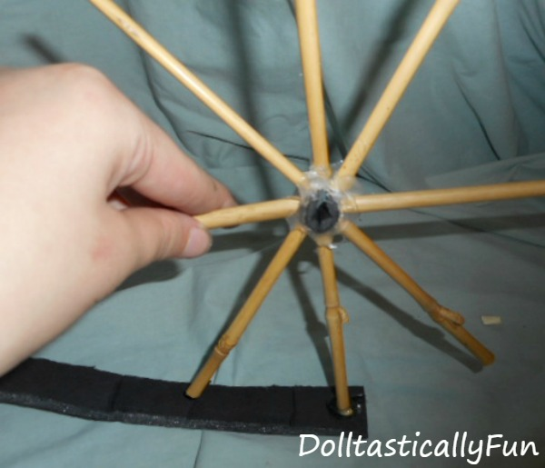Putting the spokes in